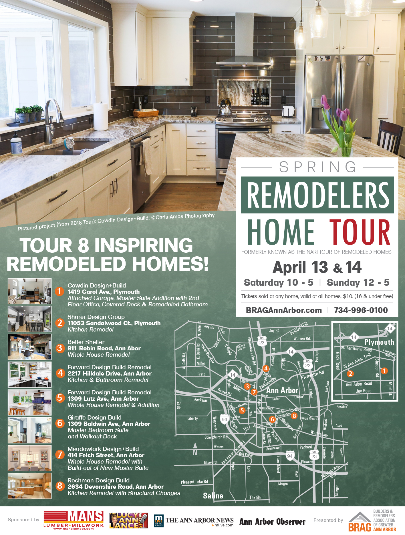 Ann Arbor Events April 2020.Remodelers Home Tour Spring The Builders And Remodelers